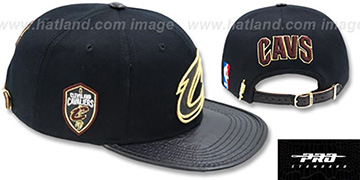 Cavaliers METALLIC POP STRAPBACK Black Hat by Pro Standard