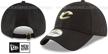 Cavaliers MINI GOLD METAL-BADGE STRAPBACK Black Hat by New Era