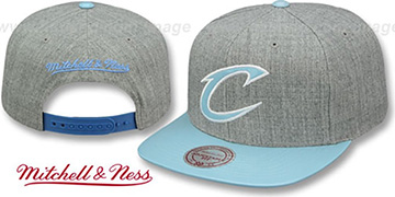 Cavaliers PATENT 'POWDER SNAPBACK' Hat Mitchell and Ness