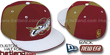 Cavaliers 'PINWHEEL' Burgundy-Gold-White Fitted Hat