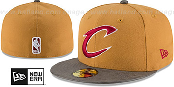 Cavaliers RUSTIC-VIZE Wheat-Grey Fitted Hat by New Era