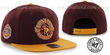 Cavaliers 'SURE-SHOT SNAPBACK' Burgundy-Gold Hat by Twins 47 Brand