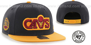 Cavaliers 'SURE-SHOT SNAPBACK' Navy-Gold Hat by Twins 47 Brand