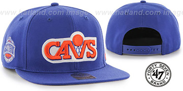 Cavaliers SURE-SHOT SNAPBACK Royal Hat by Twins 47 Brand