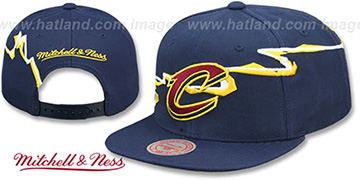 Cavaliers SWIFTER SNAPBACK Navy Hat by Mitchell and Ness