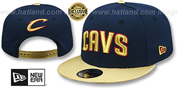 Cavaliers SWINGMAN SNAPBACK Navy-Gold Hat by New Era