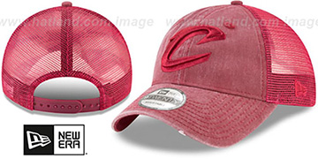 Cavaliers TONAL-WASHED TRUCKER SNAPBACK Burgundy Hat by New Era