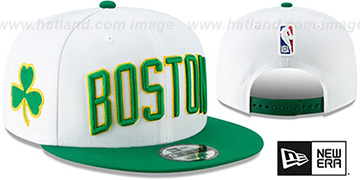 Celtics '18-19 CITY-SERIES SNAPBACK' White-Green Hat by New Era
