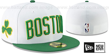 Celtics '18-19 CITY-SERIES' White-Green Fitted Hat by New Era