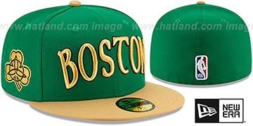 Celtics 19-20 CITY-SERIES Green-Tan Fitted Hat by New Era