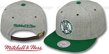Celtics '2T-HEATHER STRAPBACK' Hat Mitchell & Ness