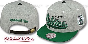 Celtics 2T TAILSWEEPER STRAPBACK Grey-Green Hat by Mitchell & Ness