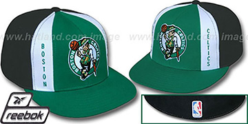Celtics AJD PINWHEEL Green-Black Fitted Hat by Reebok
