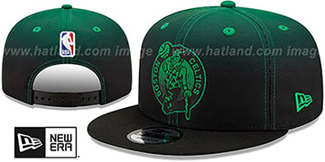 Celtics BACK HALF FADE SNAPBACK Hat by New Era