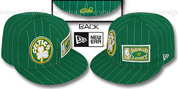 Celtics BIG-ONE DOUBLE WHAMMY Green-White Fitted Hat
