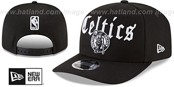 Celtics CLASSIC-CURVE SNAPBACK Black Hat by New Era