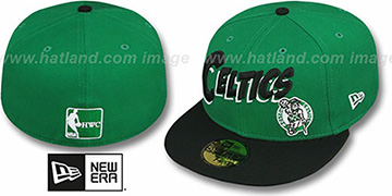 Celtics 'COMIC-WORD' Green-Black Fitted Hat by New Era