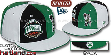 Celtics CONFERENCE DOUBLE WHAMMY Fitted Hat by New Era