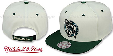 Celtics 'CREAMTOP STRAPBACK' Hat by Mitchell & Ness
