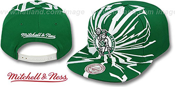 Celtics EARTHQUAKE SNAPBACK Green Hat by Mitchell & Ness