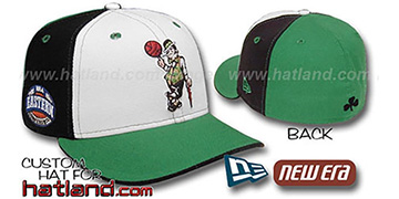 Celtics EC-PINWHEEL White-Black-Kelly Fitted Hat by New Era