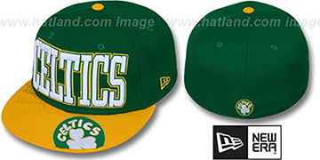 Celtics 'EPIC WORD' Green-Gold Fitted Hat by New Era