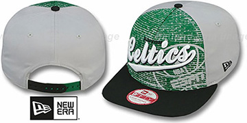 Celtics ESPN BRICK A-FRAME SNAPBACK Hat by New Era