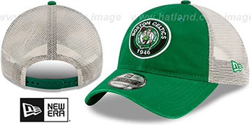 Celtics ESTABLISHED CIRCLE TRUCKER SNAPBACK Hat by New Era