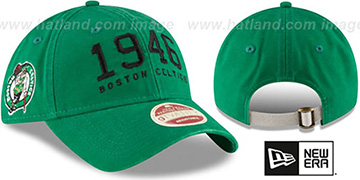 Celtics 'ESTABLISHED YEAR STRAPBACK' Green Hat by New Era