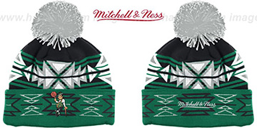 Celtics 'GEOTECH' Knit Beanie by Mitchell and Ness