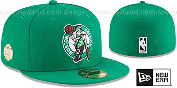 Celtics 'GILDED TURN' Green Fitted Hat by New Era