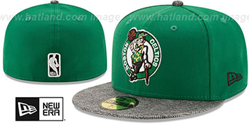Celtics 'GRIPPING-VIZE' Green-Grey Fitted Hat by New Era