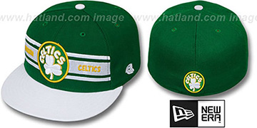 Celtics 'HARDWOOD TRIBAND' Kelly-White Fitted Hat by New Era