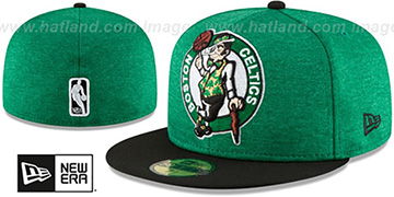 Celtics HEATHER-HUGE Green-Black Fitted Hat by New Era
