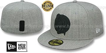 Celtics HEATHER-POP Light Grey Fitted Hat by New Era