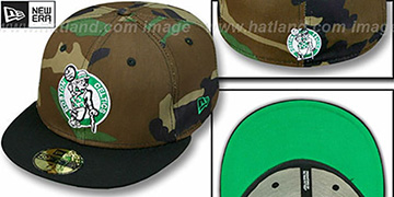 Celtics HW  '2T CAMO' Army-Black Fitted Hat by New Era