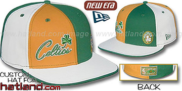 Celtics HW BIG-LITTLE DW Gold-Kelly-White Fitted Hat