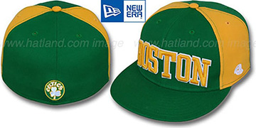 Celtics HW JMACK ARCH Green-Gold Fitted Hat by New Era