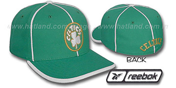 Celtics HW WILDSIDE Fitted Hat by Reebok - green