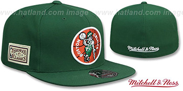 Celtics HWC SIDE-PATCH Green Fitted Hat by Mitchell and Ness