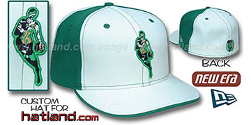Celtics INSIDER 'PINWHEEL' White-Kelly Fitted Hat by New Era