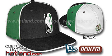 Celtics LOGOMAN-2 Black-Kelly-White Fitted Hat by New Era