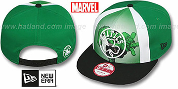 Celtics MARVEL RETRO-SLICE SNAPBACK Green-Black Hat by New Era
