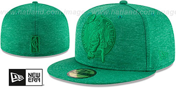 Celtics MEGATONE Green Shadow Tech Fitted Hat by New Era
