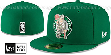 Celtics METAL-N-THREAD Green Fitted Hat by New Era