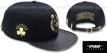 Celtics METALLIC POP STRAPBACK Black Hat by Pro Standard