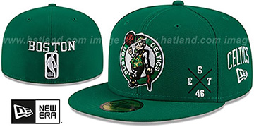 Celtics 'MULTI-AROUND' Green Fitted Hat by New Era