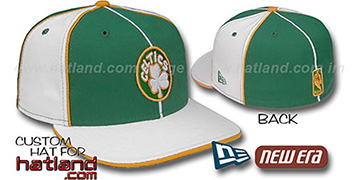 Celtics 'OLD SCHOOL PINWHEEL-3' Green-White Fitted Hat
