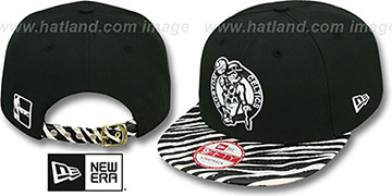 Celtics 'OSTRICH-ZEBRA STRAPBACK' Hat by New Era