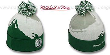 Celtics PAINTBRUSH BEANIE by Mitchell and Ness